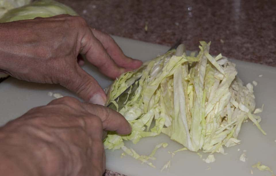 Chop the cabbage