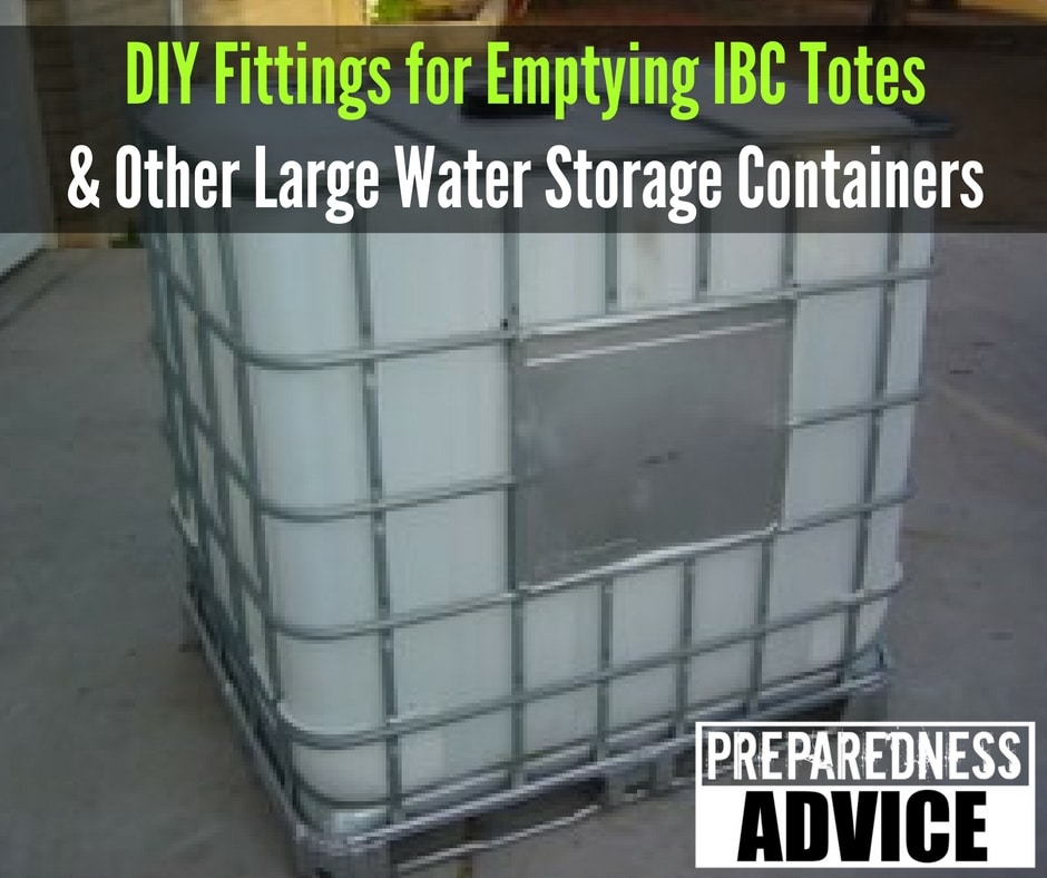 Fittings For Emptying Ibc Totes And Other Large Water