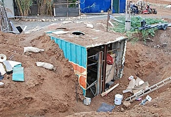 buried shipping container used for drug lab the container was buried ...