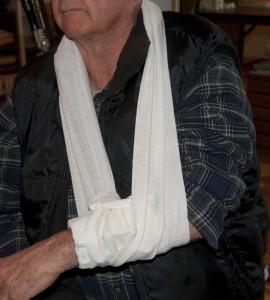 Israeli bandage used as a sling