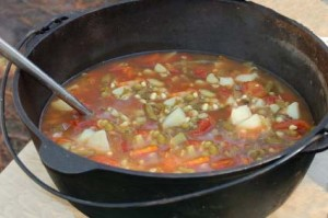 Burying your Dutch Oven – 1/28/12