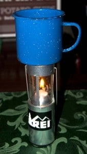 UCO Candle Lantern heating water
