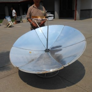 a parabolic solar oven