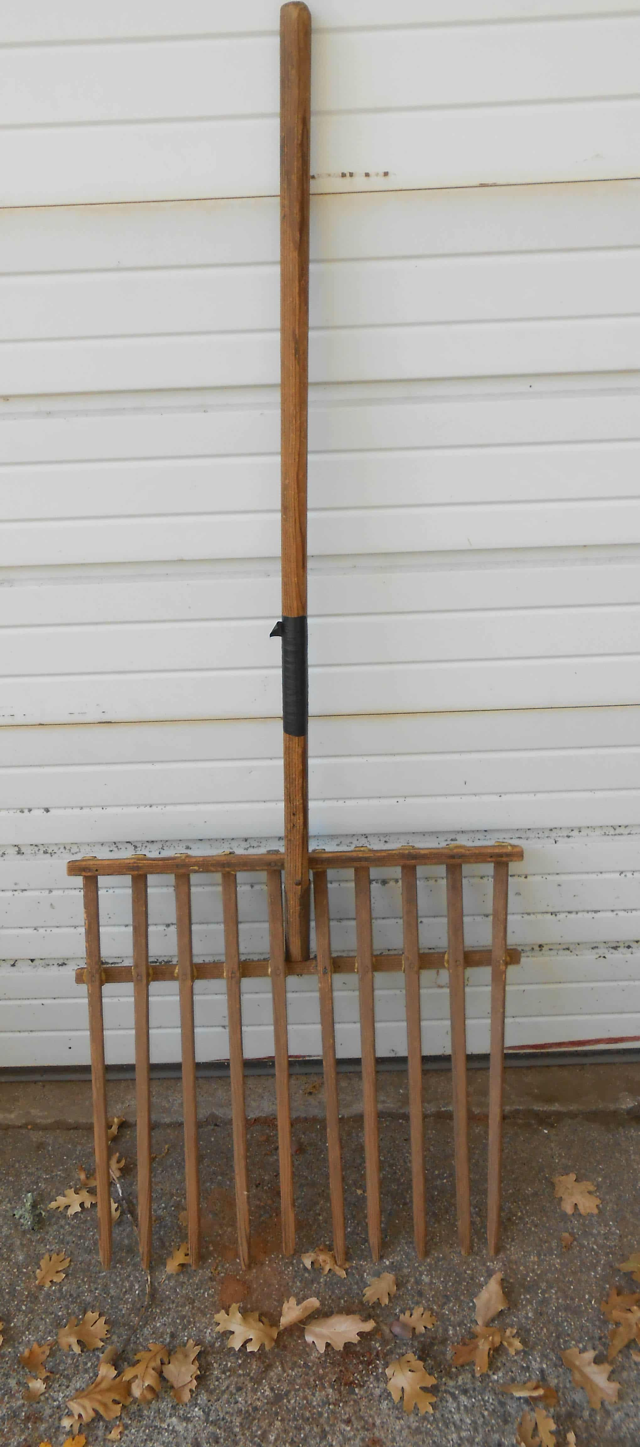 Homemade Wooden Gardening And Hay Forks Preparedness