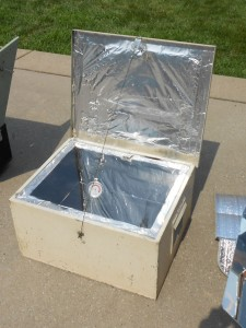 solar cooking safety. A homemade solar oven ...