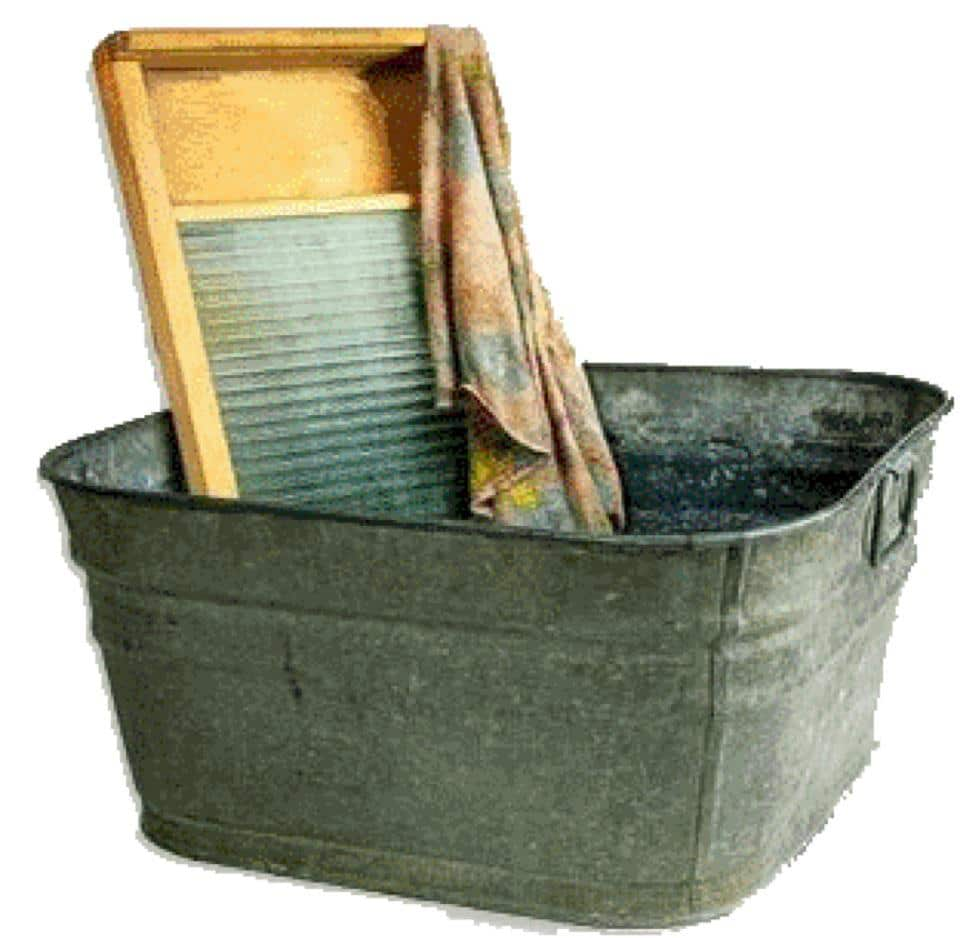 Laundry Wash Tub : washboard will work, but requires you to keep your hands in the ...