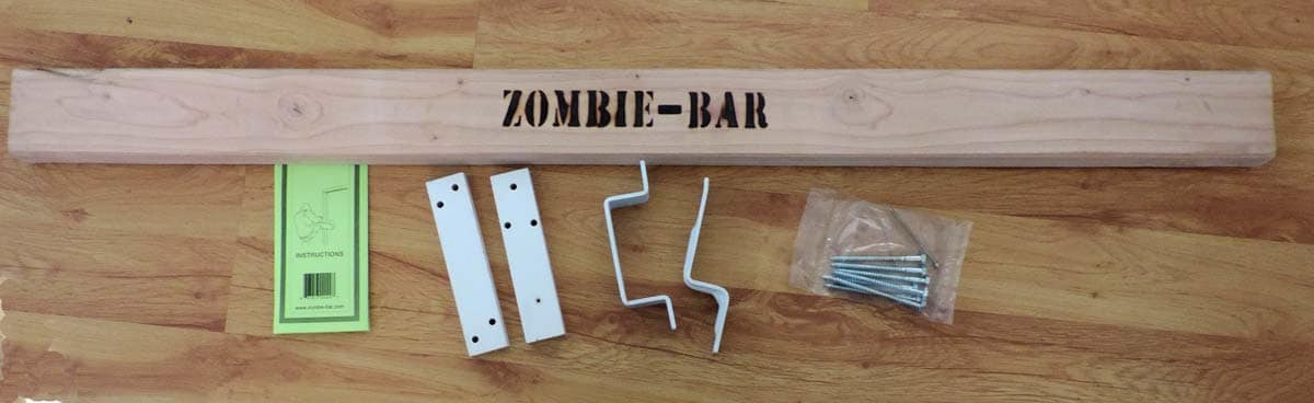 Use The Zombie Bar To Secure Your Doors Against Burglaries And Home Invasions