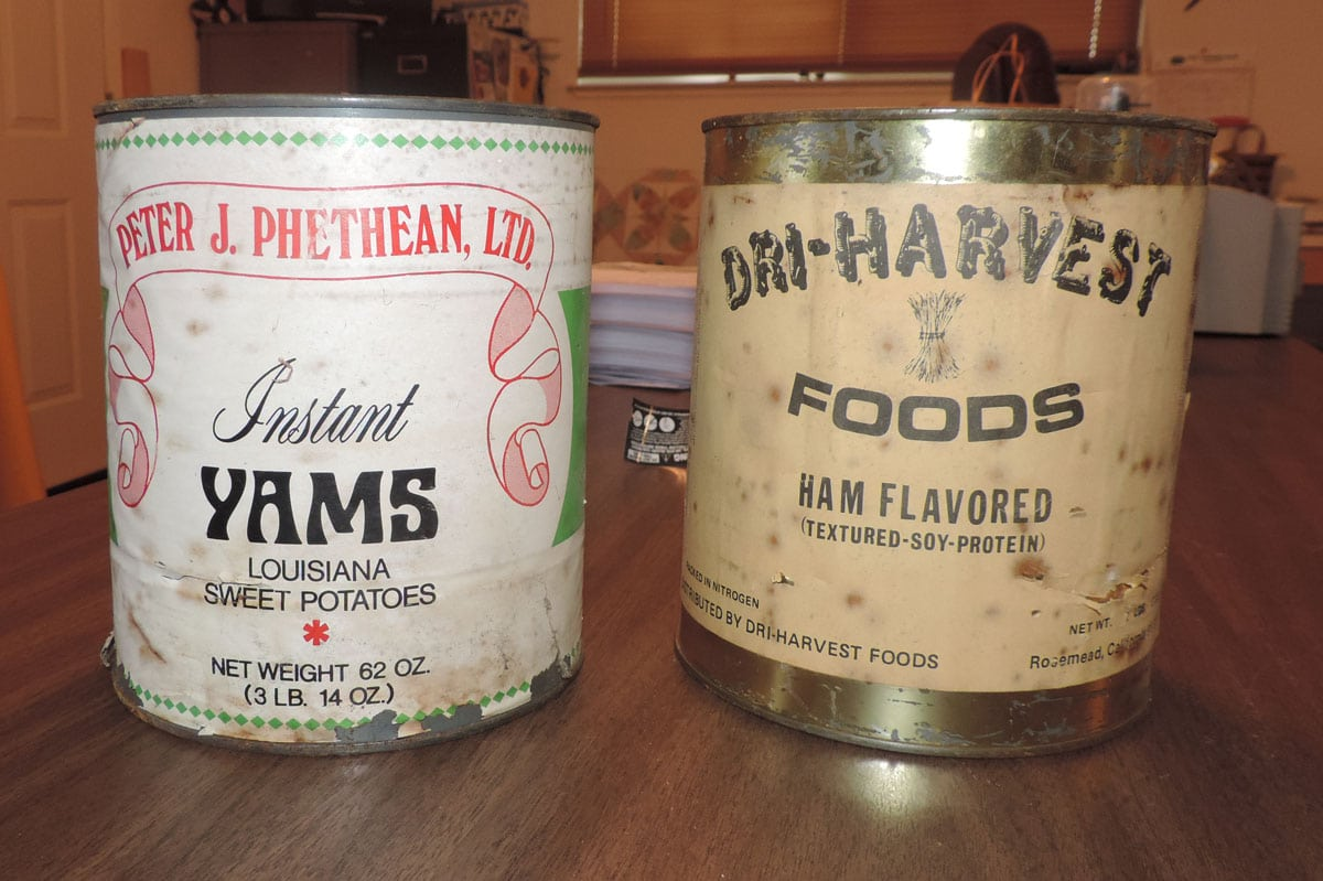 Long-term Food Storage & Long-term Food Storage 30 year Old Cans I Opened Today