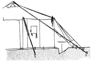 sleeping dry in a tent