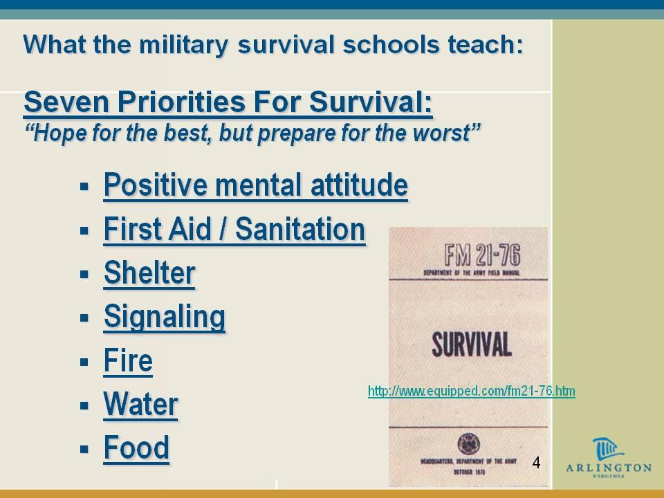 Disaster Survival Skills