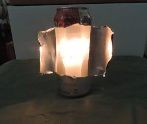 improvised lamp