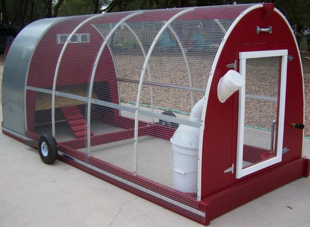 Chicken tractors help you to feed and raise chickens with for Pvc chicken tractor plans