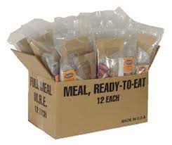 These are not complete military MRE's, although they probably have some military componants