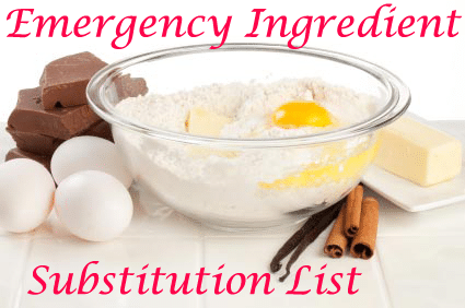 cooking ingredients substitutions