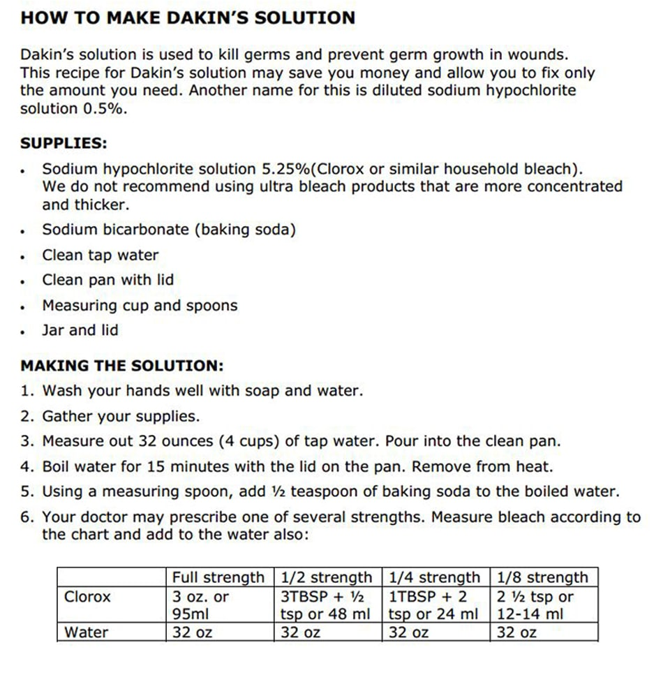 Dakin's Solution