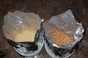 storing grains, legumes