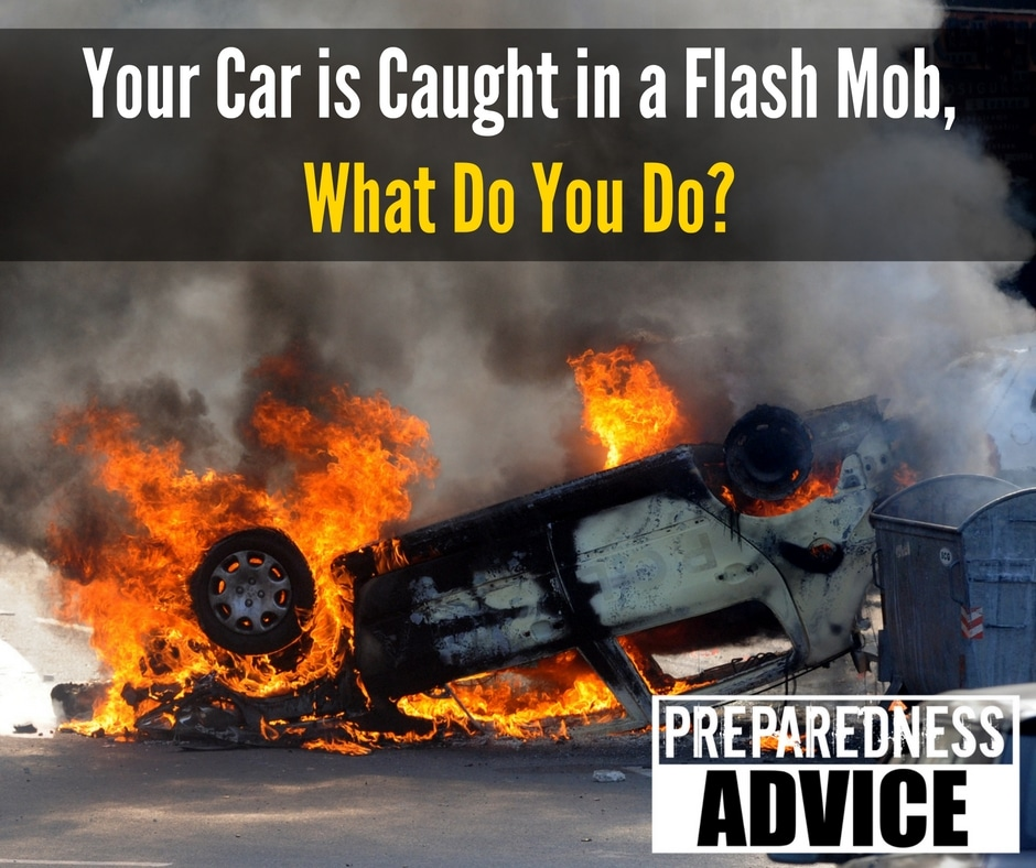 Your Car is Caught in a Flash Mob, What Do You Do via Preparedness Advice