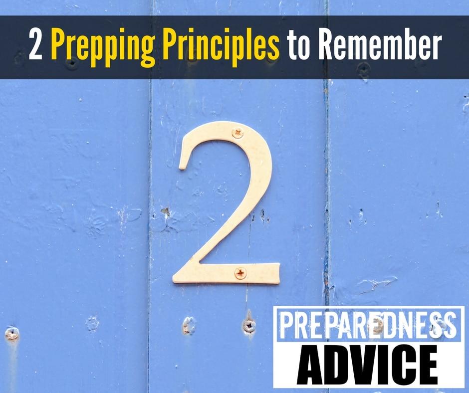 prepping principles