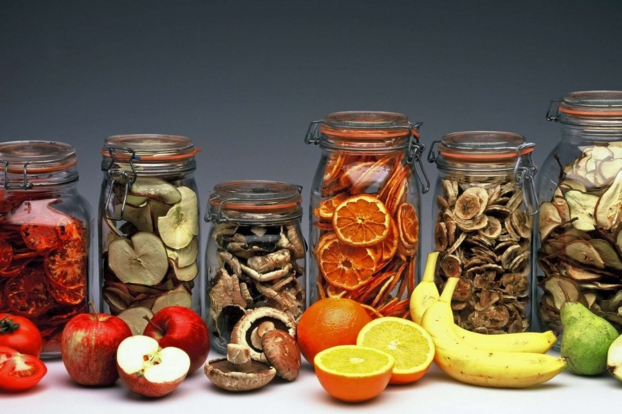 Dehydrated Food In Glass Jars