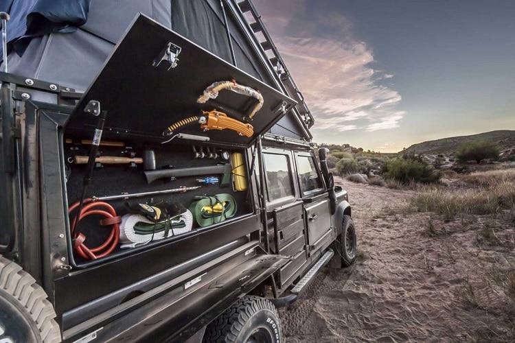 side storage for survival gear